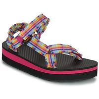 Zapatos Niña Sandalias Teva C MIDFORM FRAY Rosa / Multicolor