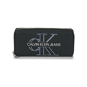 Bolsos Mujer Cartera Calvin Klein Jeans ZIP AROUND GLOW Negro