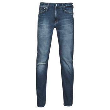 textil Hombre Vaqueros rectos Calvin Klein Jeans SLIM TAPER Azul / Medium