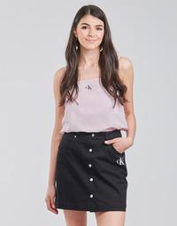textil Mujer Tops / Blusas Calvin Klein Jeans MONOGRAM CAMI TOP Rosa