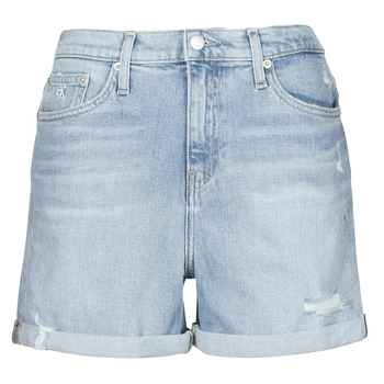 textil Mujer Shorts / Bermudas Calvin Klein Jeans MOM SHORT Azul / Claro