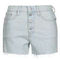 textil Mujer Shorts / Bermudas Calvin Klein Jeans HIGH RISE SHORT Azul / Claro