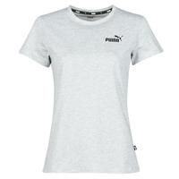 textil Mujer Camisetas manga corta Puma ESS LOGO TEE Gris / China