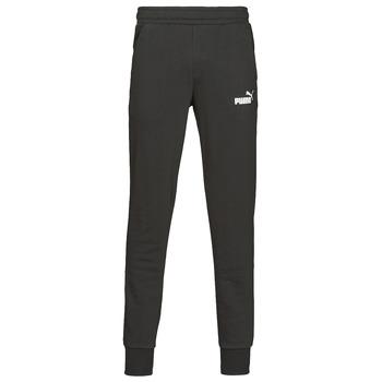 textil Hombre Pantalones de chándal Puma ESS LOGO SLIM PANT LOGO FL CL Negro