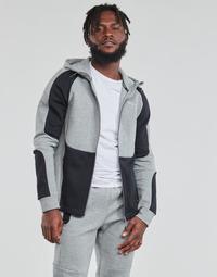 textil Hombre Sudaderas Puma EVOSTRIPE FZ HOODY Gris / Negro