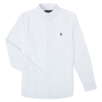 textil Niño Camisas manga larga Polo Ralph Lauren GONNA Blanco