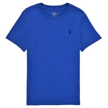 textil Niño Camisetas manga corta Polo Ralph Lauren ELIVA Azul / Safiro