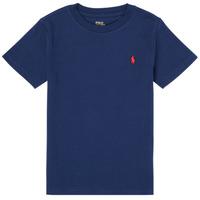 textil Niño Camisetas manga corta Polo Ralph Lauren TINNA Marino