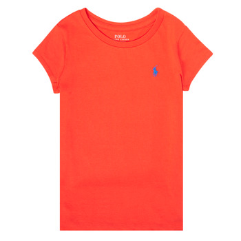 textil Niña Camisetas manga corta Polo Ralph Lauren SIDONIE Rojo