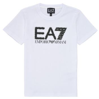 textil Niño Camisetas manga corta Emporio Armani EA7 3KBT53-BJ02Z-1100 Blanco