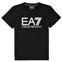 textil Niño Camisetas manga corta Emporio Armani EA7 3KBT53-BJ02Z-1200 Negro