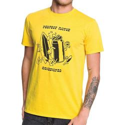 textil Hombre Camisetas manga corta Quiksilver  Amarillo
