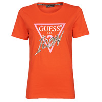 textil Mujer Camisetas manga corta Guess SS CN ICON TEE Rojo