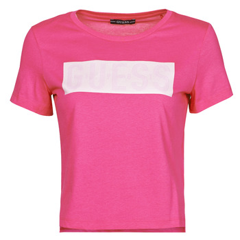 textil Mujer Camisetas manga corta Guess SS CN ADRIA TEE Fucsia