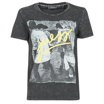 textil Mujer Camisetas manga corta Guess SS CN PAULA TEE Negro