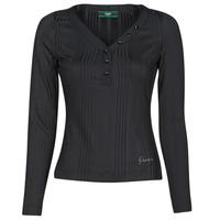 textil Mujer Camisetas manga larga Guess LS URSULA TOP Negro