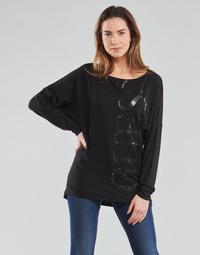textil Mujer Camisetas manga larga Guess LS KAROLINA TEE Negro