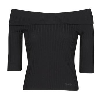 textil Mujer Camisetas manga larga Guess DAYNA OFF SHOULDER SWTR Negro