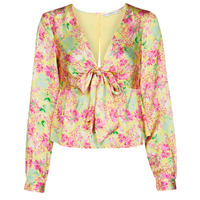 textil Mujer Tops / Blusas Guess NEW LS GWEN TOP Multicolor