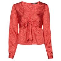 textil Mujer Tops / Blusas Guess NEW LS GWEN TOP Rojo / Blanco