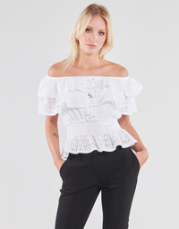 textil Mujer Tops / Blusas Guess SS NEW ISOTTA TOP Blanco