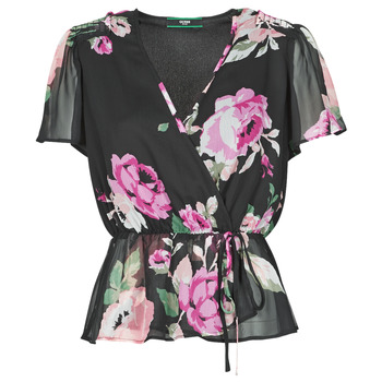 textil Mujer Tops / Blusas Guess SS NEREA TOP Negro / Multicolor