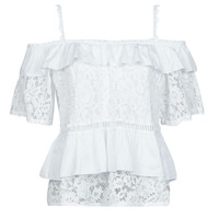 textil Mujer Tops / Blusas Guess SS NEW OLIMPIA TOP Blanco