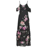 textil Mujer Vestidos largos Guess AGATHE DRESS Negro / Multicolor