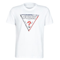 textil Hombre Camisetas manga corta Guess TRIESLEY CN SS TEE Blanco