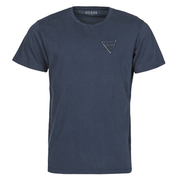 textil Hombre Camisetas manga corta Guess LOGO ORGANIC BASIC CN SS TEE Marino
