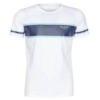 textil Hombre Camisetas manga corta Guess CN SS TEE Blanco / Marino