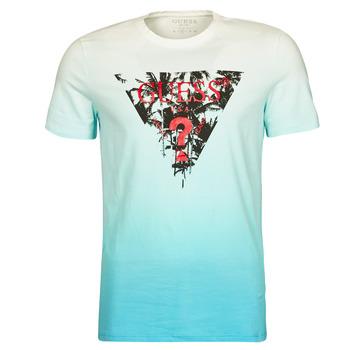 textil Hombre Camisetas manga corta Guess PALM BEACH CN SS TEE Azul