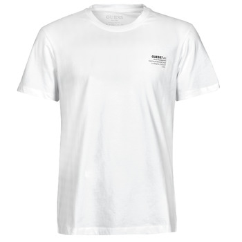 textil Hombre Camisetas manga corta Guess ORGANIC BASIC CN SS TEE Blanco