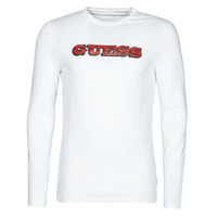 textil Hombre Camisetas manga larga Guess GUESS PROMO CN LS TEE Blanco