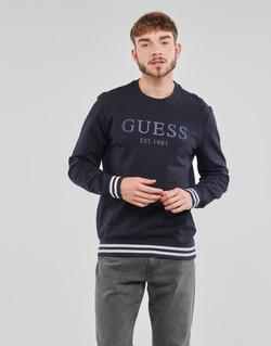 textil Hombre Sudaderas Guess BEAU CN FLEECE Negro