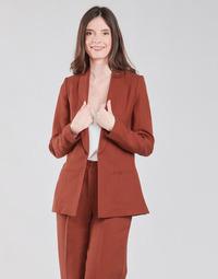 textil Mujer Chaquetas / Americana Naf Naf LINONOU V2 Terracota