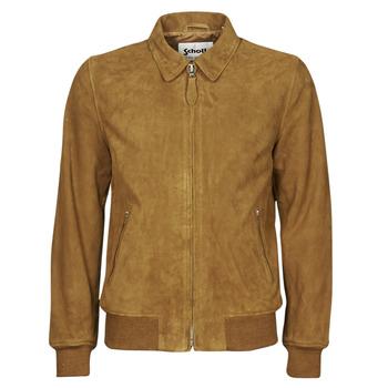 textil Hombre Chaquetas de cuero / Polipiel Schott LC YALES S Cognac