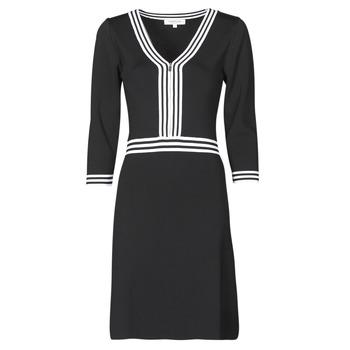textil Mujer Vestidos cortos Morgan RMFATA Negro / Blanco