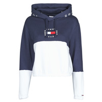 textil Mujer Sudaderas Tommy Jeans COLOR BLOCK HOODIE Marino / Blanco