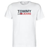 textil Hombre Camisetas manga corta Tommy Jeans TJM CORP LOGO TEE Blanco