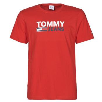 textil Hombre Camisetas manga corta Tommy Jeans TJM CORP LOGO TEE Rojo