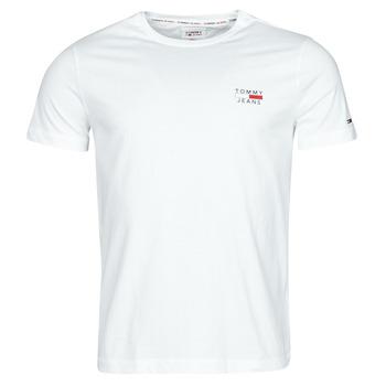 textil Hombre Camisetas manga corta Tommy Jeans TJM CHEST LOGO TEE Blanco