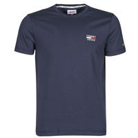 textil Hombre Camisetas manga corta Tommy Jeans TJM CHEST LOGO TEE Marino