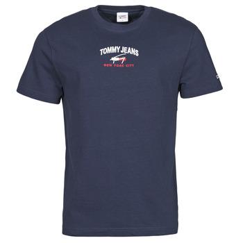 textil Hombre Camisetas manga corta Tommy Jeans TJM TIMELESS TOMMY SCRIPT TEE Marino