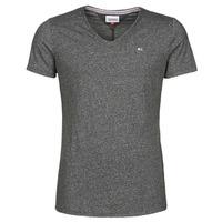textil Hombre Camisetas manga corta Tommy Jeans TJM SLIM JASPE V NECK Negro