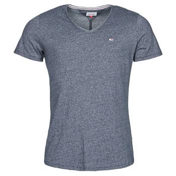textil Hombre Camisetas manga corta Tommy Jeans TJM SLIM JASPE V NECK Marino