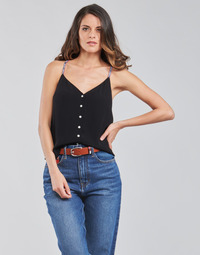 textil Mujer Tops / Blusas Tommy Jeans TJW CAMI TOP BUTTON THRU Negro