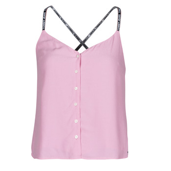 textil Mujer Tops / Blusas Tommy Jeans TJW CAMI TOP BUTTON THRU Rosa
