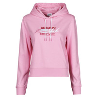 textil Mujer Sudaderas Tommy Jeans TJW CROPPED TOMMY FLAG HOODIE Rosa