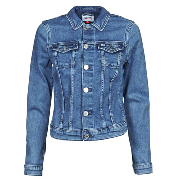 textil Mujer Chaquetas denim Tommy Jeans VIVIANNE SLIM DENIM TRUCKER NMBS Azul / Medium